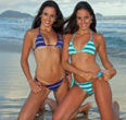 Ale & Mari modeling for Girls of Brazil Swimsuit Calendar